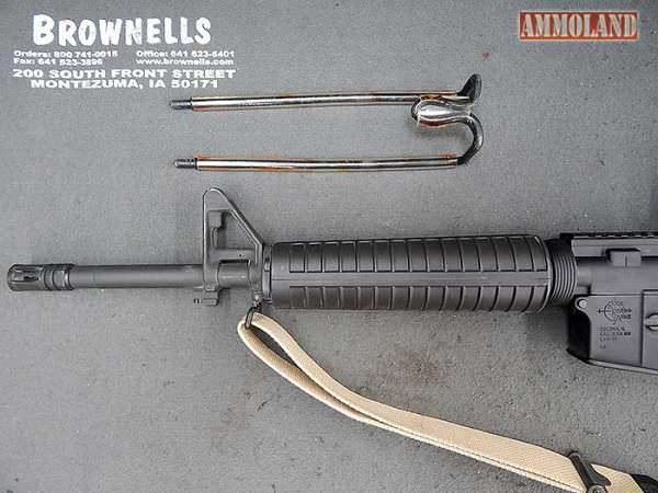Figure 5: The Brownells AR-15 handguard removal tool, ready for action.