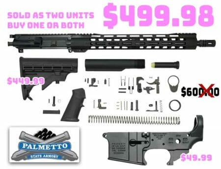"PSA 16"" M4 Carbine-Length 5.56 Freedom Rifle Build Kit Deal"