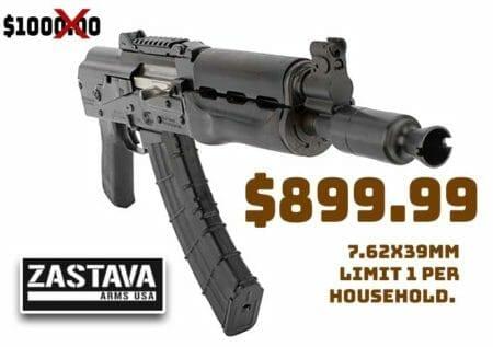 Zastava heavy-duty M92 ZPAP AK 7.62X39mm Pistol deal