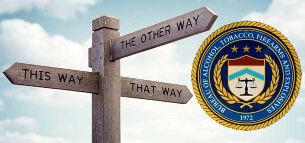 ATF Confusion Chaos Misleading Road Sign iStock-BrianAJackson 649236630